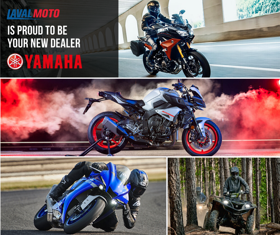 Laval Moto is proud to be a dealer Yamaha